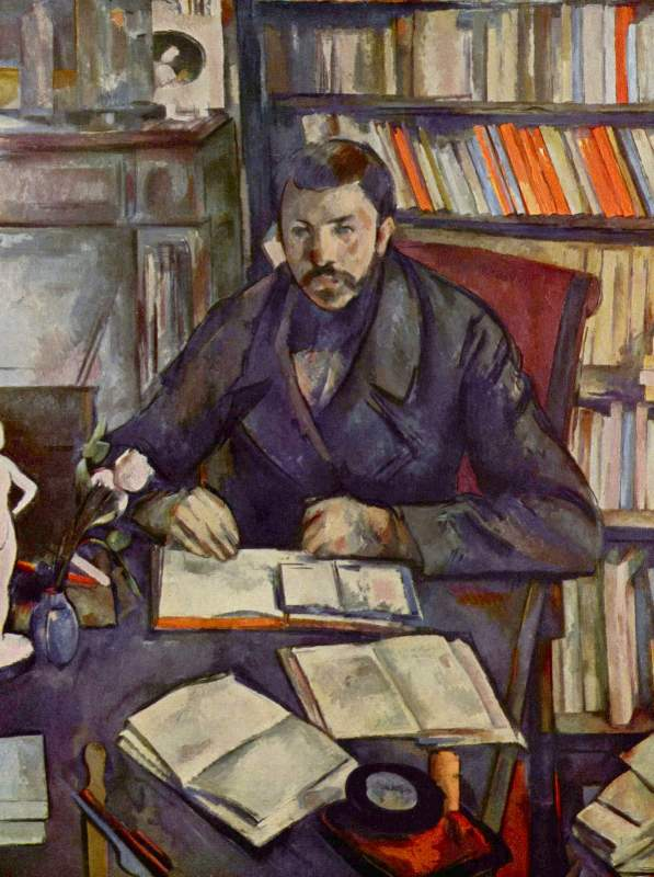 Portait of Gustave Geffroy by Cezanne